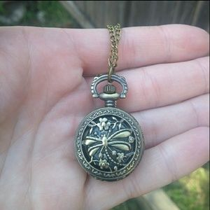 Accessories - Dragonfly pocket watch / watch necklace